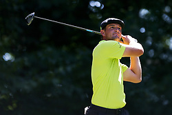 September 2, 2018 - Norton, Massachusetts, United States - Bryson DeChambeau tees off the 9th hole during the third round of the Dell Technologies Championship. (Credit Image: © Debby Wong/ZUMA Wire)