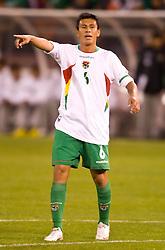 February 24, 2010; San Francisco, CA, USA;  Bolivia midfielder Rolando Ribera (6) during the first half against Mexico Candlestick Park.  Mexico defeated Bolivia 5-0.