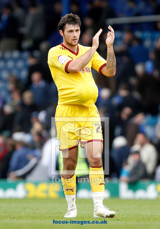 Picture by Daniel Chesterton/Focus Images Ltd. 07966 018899.31/03/12.Hat-trick scorer Charlie Austin of Burnley after the Npower Championship match at Fratton Park stadium, Portsmouth.