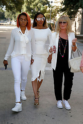 EXCLUSIVE: Melanie Brown aka Mel B arrives for a court hearing in Van Nuys, CA. She is accompanied by her legal team and held hands with her eldest daughter Phoenix Chi. 21 Jul 2017 Pictured: Phoenix Chi, Melanie Brown. Photo credit: MEGA TheMegaAgency.com +1 888 505 6342