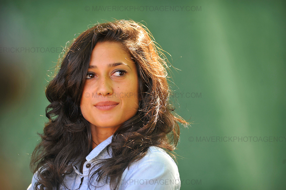 EDINBURGH, UK - 15th August 2010:  Portrait session with author Fatima Bhutto at the Edinburgh International Book Festival.  Fatima is granddaughter of former Prime Minister Zulfikar Ali Bhutto, the niece of former Prime Minister Benazir Bhutto, and daughter of Murtaza Bhutto.  (Photograph: Callum Bennetts/MAVERICK)