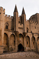 The front of the Pope's Palace, the centre of the Holy Roman Empire in Avignon, France.