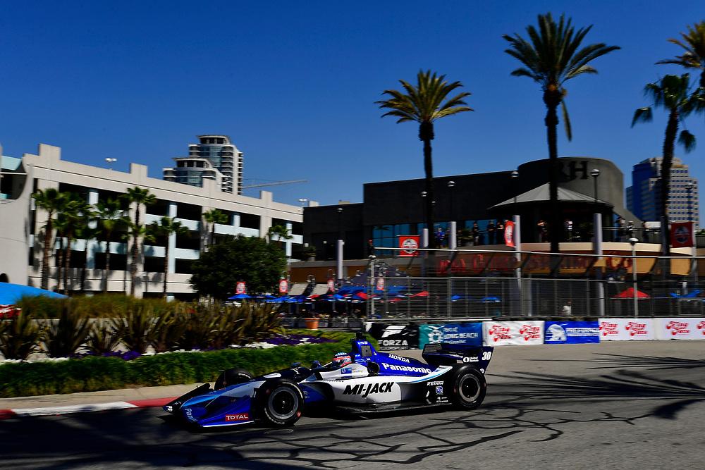 Takuma Sato, Rahal Letterman Lanigan Racing Honda<br /> Saturday 14 April 2018<br /> Toyota Grand Prix of Long Beach<br /> Verizon IndyCar Series<br /> Streets of Long Beach, California USA<br /> World Copyright: Scott R LePage<br /> LAT Images