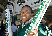 student Melissa Payne at O.U. football team vs. Western Michigan home football game on Saturday, 10/7/06.