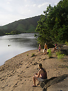Enjoying the sunset  along the Daintree River at Daintree Village, Queensland, Australia.