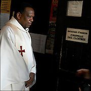 Belgium - Liege April 04, 2007, Priest waiting his congregation before the mass at St-Martin Basilica ©Jean-Michel Clajot