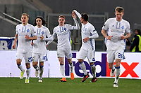 Esultanza Gol di tacco di Viktor Tsyganov Dinamo. Viktor Tsyganov of Dinamo celebrates after scored with an heel shot . Goal celebration  <br /> Roma 08-03-2018 Stadio Olimpico Football Europa League 2017/2018 Round of 32 Lazio - Dinamo Kiev Foto Antonietta Baldassarre/Insidefoto