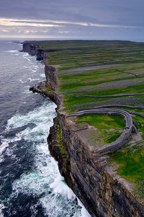 Dun Aengus, an acient fort on the west coast of Inishmore, Aran Islands, Ireland