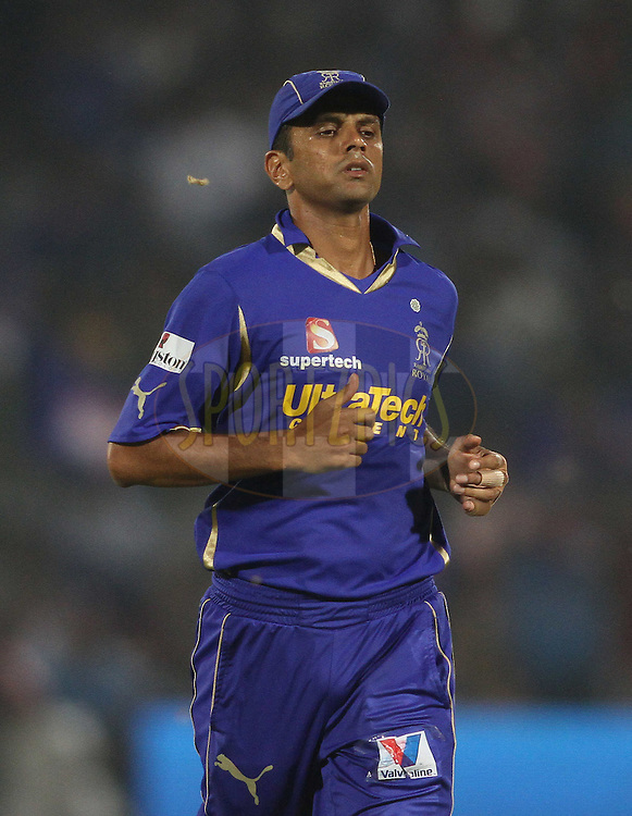 Rajasthan Royals captain Rahul Dravid during match 43 of the the Indian Premier League (IPL) 2012  between The Rajasthan Royals and the Delhi Daredevils held at the Sawai Mansingh Stadium in Jaipur on the 1st May 2012..Photo by Shaun Roy/IPL/SPORTZPICS