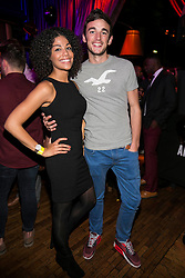 Repro Free: 9/10/2014 Shaneika Southerland and Warren Behan pictured at The Odeon, Dublin for the surprise Guinness Amplify Live gig. Music fans in Dublin were treated to an extra special experience as three of most highly acclaimed musicians of 2014, Kidnap Kid, Jess Glynn and Rudimental, played surprise performances. <br /> Guinness Amplify connects the freshest new music talent with audiences all over the country, as well as providing them with some of the resources and industry expertise they need to help them along the way. Picture Andres Poveda<br /> <br /> Full details of the Guinness Amplify programme are available on www.guinnessamplify.com.  Enjoy Guinness Sensibly. Visit www.drinkaware.ie<br /> ENDS<br /> For further information please contact:                                                                              <br /> Julie Blakeney, WH, on 0863420794 or Kristin Fox, WH, on 0872211916