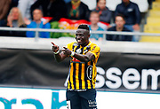 GOTHENBURG, SWEDEN - APRIL 14:Alhassan Kamara of BK Hacken celebrates after scoring to 1-0  during the Allsvenskan match between BK Hacken and Dalkurd FF at Bravida Arena on April 14, 2018 in Gothenburg, Sweden. Photo by Nils Petter Nilsson/Ombrello ***BETALBILD***