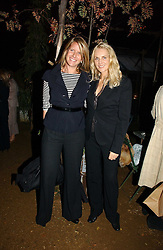 Left to right, FIONA GOLFAR wife of actor Robert Fox and GAEL BOGLIONE at a party to celebrate the publication on 'A Year in My Kitchen' by Skye Gyngell held at The Petersham Nurseries, Petesham, Surrey on 19th October 2006.<br />