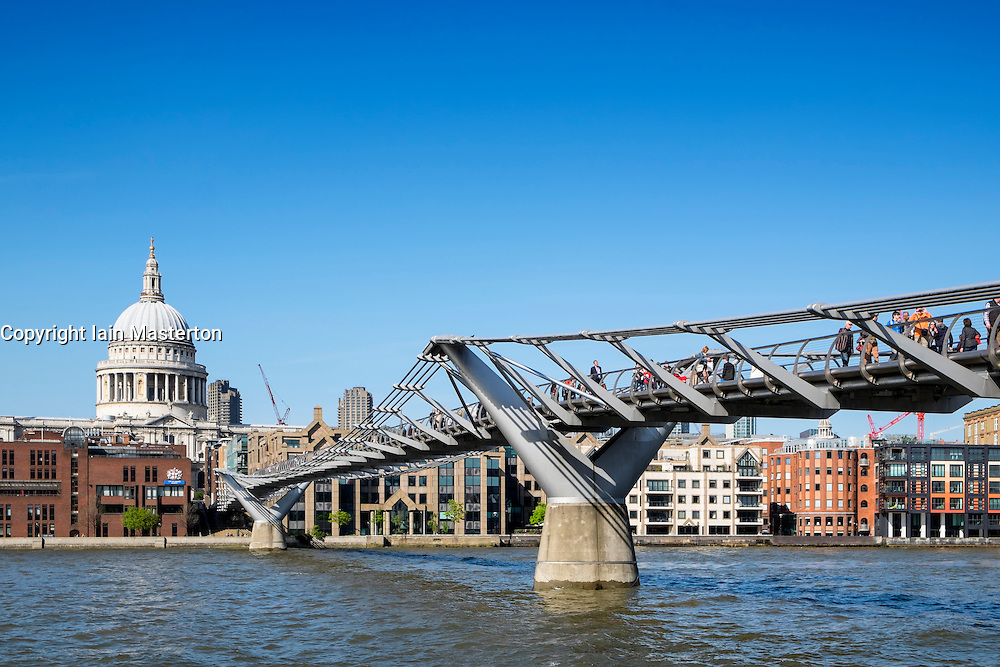 Millenium Bridge in London United Kingdom