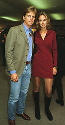 MR MOGENS THOLSTRUP owner of top restaurant Daphne's and LADY VICTORIA HERVEY, at a party in London on 26th September 1997.MBR 21
