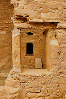 Window in a window at Spruce Tree House cliff dwelling.  Mesa Verde National Park. Image taken with a Nikon D3 camera and 80 mm VR lens (ISO 720, 42 mm, f/8. 1/250 sec).