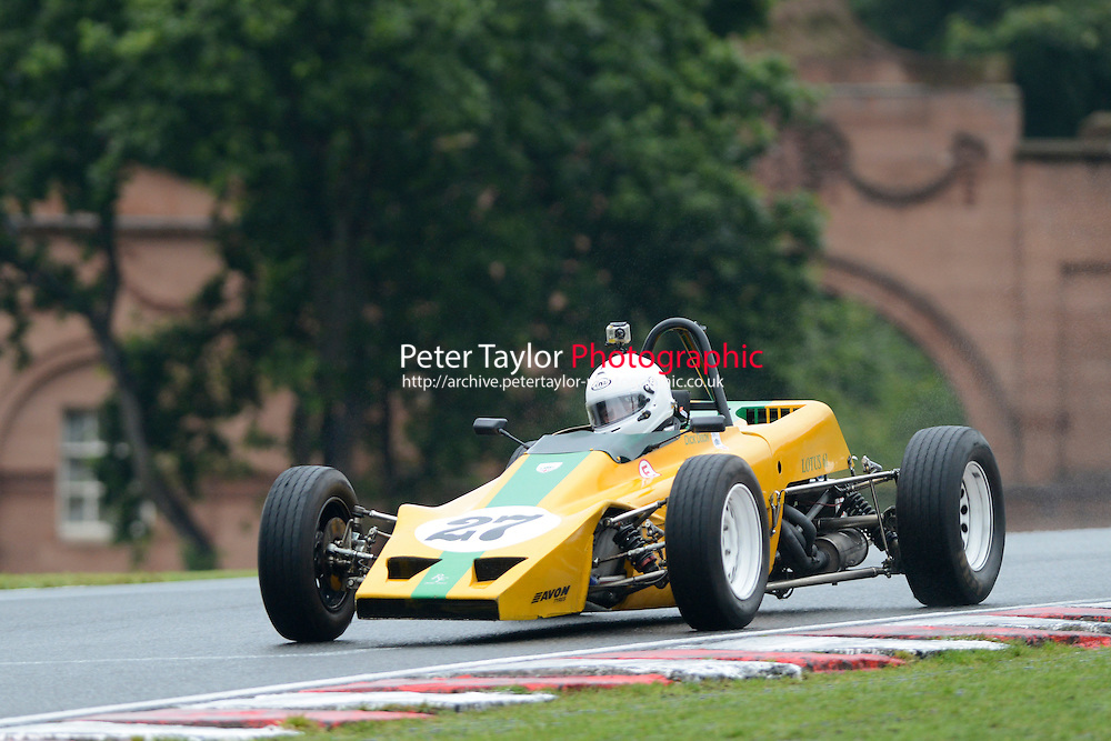#27 Dick Dixon Lotus 61 during Historic Formula Ford - Qualifying as part of the Oulton Park Gold Cup at Oulton Park, Little Budworth, Cheshire, United Kingdom. August 31 2015. World Copyright Taylor/PSP. Copy of publication required for printed pictures.  Every used picture is fee-liable. http://archive.petertaylor-photographic.co.uk
