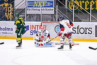 2019-10-15 | Umeå, Sweden:Almost goal for IF Björklöven in  HockeyAllsvenskan during the game  between Björklöven and Västervik at A3 Arena ( Photo by: Michael Lundström | Swe Press Photo )<br /> <br /> Keywords: Umeå, Hockey, HockeyAllsvenskan, A3 Arena, Björklöven, Västervik, mlbv191015