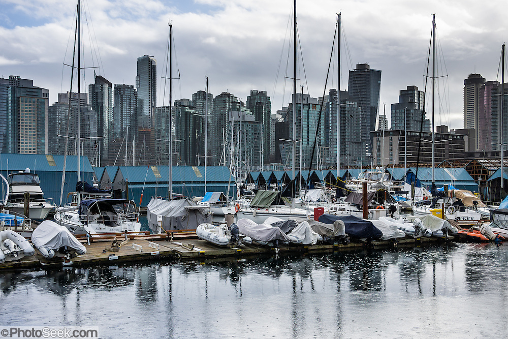 Coal Harbour, Vancouver, British Columbia, Canada.
