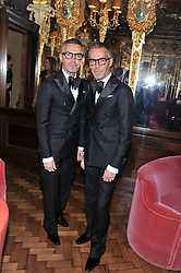 Left to right, DEAN CATEN and DAN CATEN at the 50th birthday party for Patrick Cox held at the Café Royal Hotel, 68 Regent Street, London on 15th March 2013.