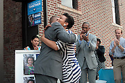 17 August- New York, NY:  (L-R) U.S. Congressman Hakeem Jefferies and New York City Council Candidate Laurie Cumbo attends the endorsement announcement by U.S.Congressman Hakeem Jeffries of Laurie Cumbo for City Council District 35 held at the Laurie Cumbo Campaign Headquarters in the Prospect Heights section of Brooklyn, NY on August 17, 2013 in New York City. © Terrence Jennings