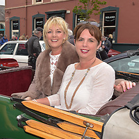 REPRO FREE<br /> Cathy Foster and Valerie O'Callaghan from Belgooly pictured at the start of the Blue Haven Kinsale Vintage Rally on Saturday.<br /> Picture. John Allen<br /> <br /> Kinsale Vintage Rally Weekend 2017