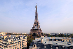 General view of the Eiffel Tower ahead of the 2018 Ryder Cup at The Hotel Pullman Paris Eiffel Tower, Paris.