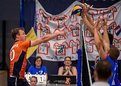 28-08-2016 NED: Nederland - Slowakije, Nieuwegein<br /> Het Nederlands team heeft de oefencampagne tegen Slowakije met een derde overwinning op rij afgesloten. In een uitverkocht Sportcomplex Merwestein won Nederland met 3-0 van Slowakije / Jeroen Rauwerdink #10