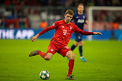 MUNICH, GERMANY - Wednesday, December 11, 2019: Bayern Munich's substitute Thomas Müller during the final UEFA Champions League Group B match between FC Bayern München and Tottenham Hotspur FC at the Allianz Arena. (Pic by David Rawcliffe/Propaganda)