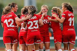 Bristol City Women celebrate after Millie Farrow (3R) scores a goal to make it 1-0 - Mandatory byline: Rogan Thomson/JMP - 09/07/2016 - FOOTBALL - Stoke Gifford Stadium - Bristol, England - Bristol City Women v Milwall Lionesses - FA Women's Super League 2.