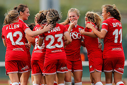 Bristol City Women celebrate after Millie Farrow (3R) scores a goal to make it 1-0 - Mandatory byline: Rogan Thomson/JMP - 09/07/2016 - FOOTBALL - Stoke Gifford Stadium - Bristol, England - Bristol City Women v Milwall Lionesses - FA Women's Super League 2.