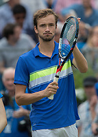 Tennis - 2017 Aegon Championships [Queen's Club Championship] - Day Four, Thursday <br /> <br /> Men's Singles: Round of 16 - Daniil MEDVEDEV (RUS) Vs Thanasi KOKKINAKIS (AUS)<br /> <br /> Danil Medvedev (RUS) applauds the fans after his victory at Queens Club<br /> <br /> COLORSPORT/DANIEL BEARHAM