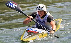 Peter Kauzer (SLO) of Men's K1 Kayak Single at Heats - 1st Run of ICF Kayak/Canoe Slalom Racing World Cup Tacen 2008, on June 28, 2008, Ljubljana, Slovenia. (Photo by Vid Ponikvar / Sportal Images)../ Sportida)