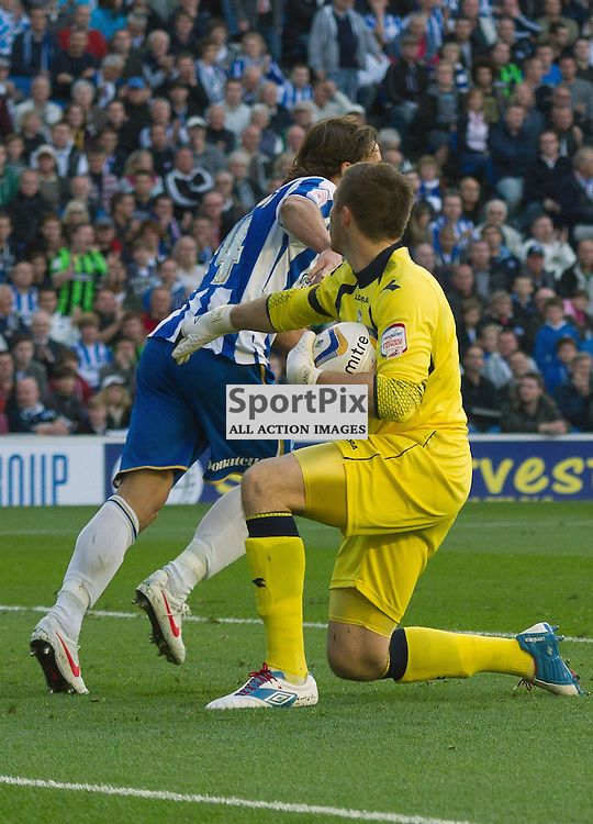 BRIGHTON. UK. 29/09/2012. Birmingham City's Jack Butland (Goalkeeper) at the match between Brighton and  Hove Albion FC and Birmingham City FC held at the American Express Community Stadium Falmer. © Peter Webb | STOCKPIX.EU. Photo credit: Peter Webb | STOCKPIX.EU