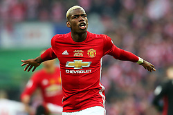 Paul Pogba of Manchester United encourages the fans  - Mandatory by-line: Matt McNulty/JMP - 26/02/2017 - FOOTBALL - Wembley Stadium - London, England - Manchester United v Southampton - EFL Cup Final