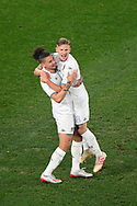SYDNEY, AUSTRALIA - JULY 20: Leeds United midfielder Mateusz Bogusz (58) celebrates his goal during the club friendly football match between Leeds United and Western Sydney Wanderers FC on July 20, 2019 at Bankwest Stadium in Sydney, Australia. (Photo by Speed Media/Icon Sportswire)
