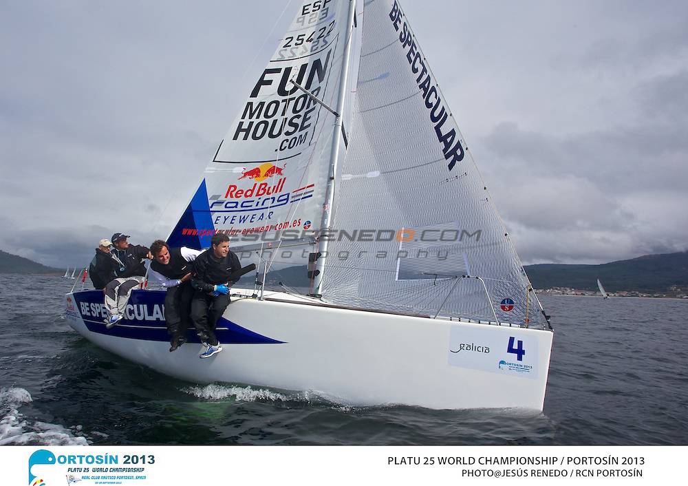 Platu 25 World Championships, Portosín , Galicia, Spain. Day 2 , 24-29 September 2013  ©