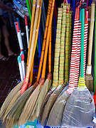 Traditional brooms sold at a grocer in Bedok, Singapore
