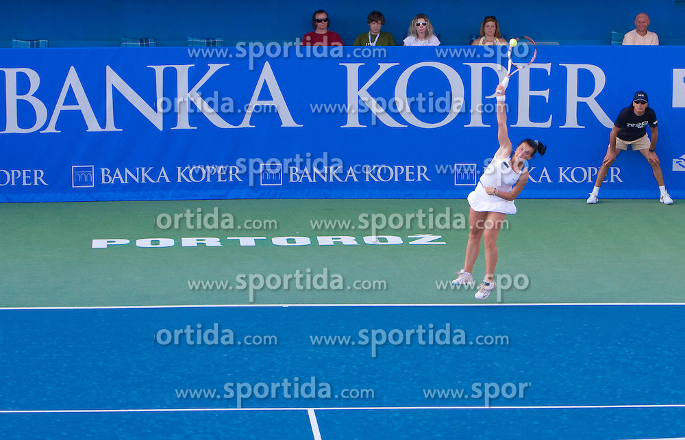 Nastja Kolar of Slovenia at 1st Round of Banka Koper Slovenia Open WTA Tour tennis tournament, on July 21 2009, in Portoroz / Portorose, Slovenia. (Photo by Vid Ponikvar / Sportida)