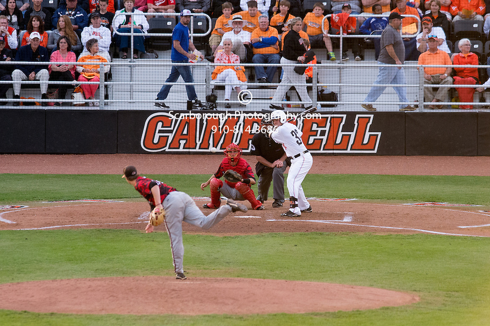 May 2nd, 2014; Buies Creek, NC, USA; Gardner Webb vs Campbell Fighting Camels at Jim Perry Stadium, Taylor Field