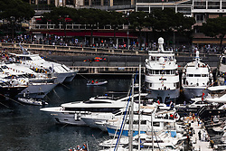 May 24, 2018 - Montecarlo, Monaco - 03 Daniel Ricciardo from Australia with Aston Martin Red Bull Tag Heuer RB14  in the middle of the boats  during the Monaco Formula One Grand Prix  at Monaco on 24th of May, 2018 in Montecarlo, Monaco. (Credit Image: © Xavier Bonilla/NurPhoto via ZUMA Press)
