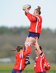 Bristol Bears Women warm up- Mandatory by-line: Nizaam Jones/JMP - 23/03/2019 - RUGBY - Shaftesbury Park - Bristol, England - Bristol Bears Women v Richmond Women- Tyrrells Premier 15s