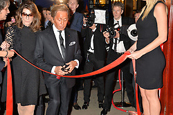 VALENTINO GARAVANI opens the Assouline store at a party to celebrate the launch of the Maison Assouline Flagship Store at 196a Piccadilly, London on 28th October 2014.  During the evening Valentino signed copies of his new book - At The Emperor's Table.