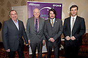 Joe Schneider CMS, CforC Chief Executive Bob Barbour, Matt Fisher, EFQM, Thomas Pirktl, Alpenresort  at the Galway Bay Hotel for the FFQM awards. Photo:Andrew Downes