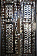 Istanbul. Topkapi Palace (Topkapi Sarayi), former residence of the Osman Sultans. The Harem. Door with mother of pearl Inlays.
