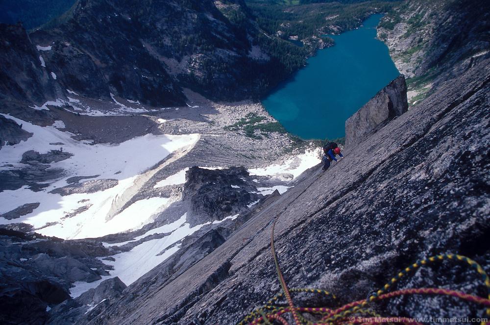 Marshall Balick on Backbone Ridge, Dragontail Peak, WA.