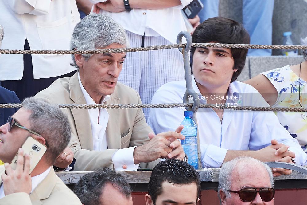 Adolfo Suarez Yllana, Adolfo Suarez Flores attended Beneficencia bullfight at Las Ventas Bullring on June 16, 2017 in Madrid, Spain
