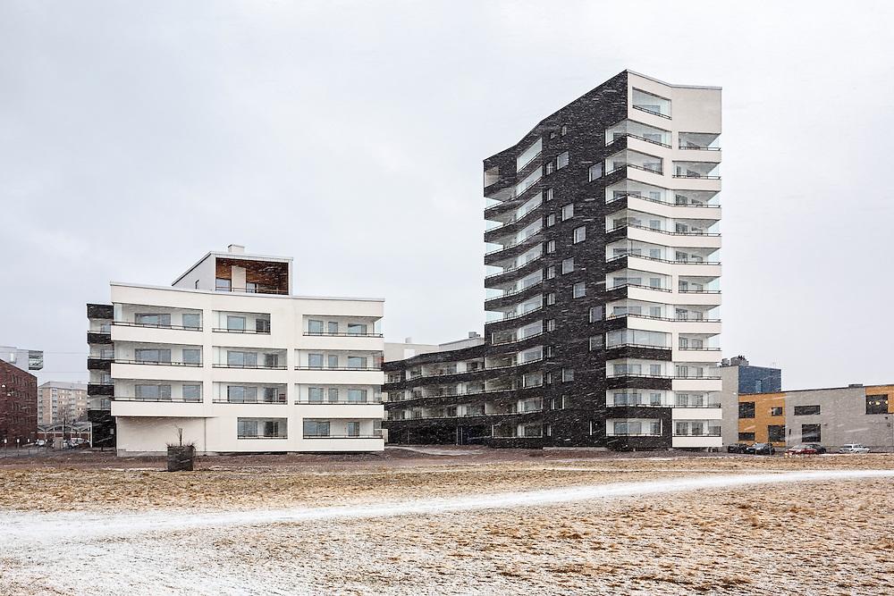 Berliininpiha residential block designed by JKMM architects in Helsinki, Finland