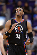 PHOENIX, AZ - APRIL 13:  Paul Pierce #34 of the Los Angeles Clippers reacts on the court during the first half of the NBA game against the Phoenix Suns at Talking Stick Resort Arena on April 13, 2016 in Phoenix, Arizona.  The Phoenix Suns won 114-105. NOTE TO USER: User expressly acknowledges and agrees that, by downloading and or using this photograph, User is consenting to the terms and conditions of the Getty Images License Agreement. (Photo by Jennifer Stewart/Getty Images)