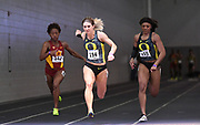 Feb 25, 2017; Seattle, WA, USA; Hannah Cunliffe of Oregon wins the women's 60m in a meet record 7.15 during the MPSF Indoor Championships at the Dempsey Indoor.