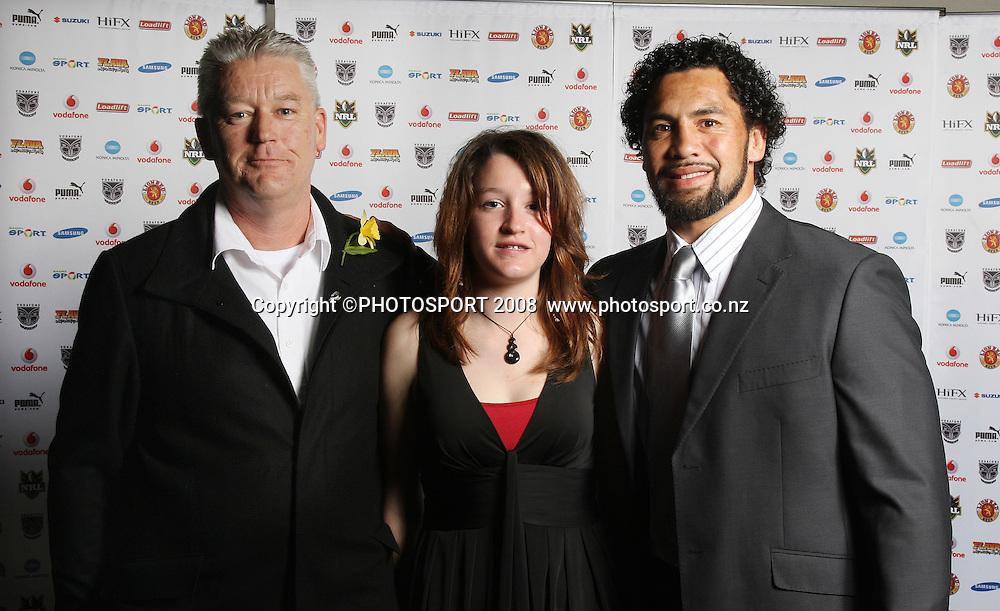 Ruben Wiki. Vodafone Warrior's annual awards, Sky City Convention Centre, Auckland. 16 September 2008. Photo: Andrew Cornaga/PHOTOSPORT
